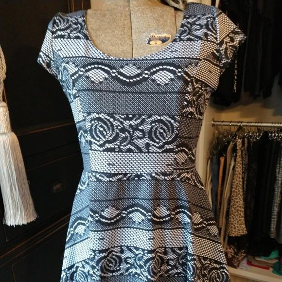 Vibe Dresses & Skirts - Vibe Sportswear Graphic Cap Sleeve Skater Dress
